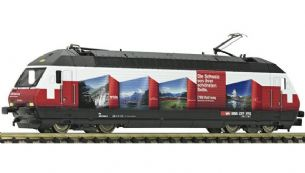 "Fleischmann 731316 N Gauge SBB Re 460 ""RailAway"" Livery Electric Locomotive"